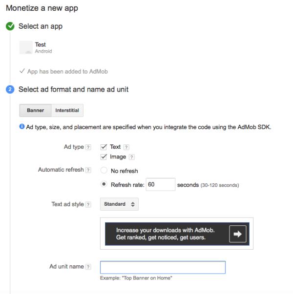 customize admob