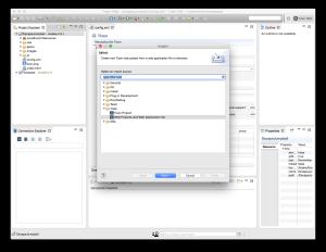 Tizen Web App Import Dialog 1